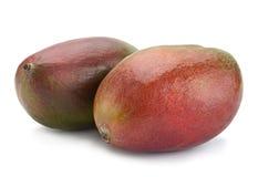 Mango tropical fruit 0n white Royalty Free Stock Photos