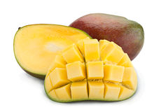Mango tropical fruit 0n white Royalty Free Stock Image