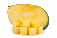Mango tropical fruit 0n white Stock Images
