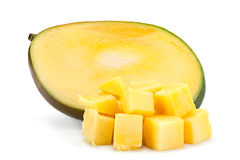 Mango tropical fruit 0n white Royalty Free Stock Photo