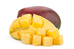 Mango tropical fruit 0n white Royalty Free Stock Images