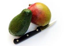 Mango und Avocado Lizenzfreies Stockbild