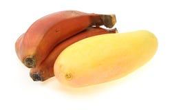 Mango und Banane stockbilder