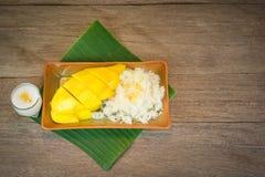 Mango und klebriger Reis Lizenzfreie Stockfotografie
