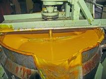 Mango-Verarbeitung der Fabrik Stockbild