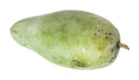 Mango verde dolce isolato su fondo bianco Immagini Stock Libere da Diritti