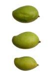 Mango verde isolato su un fondo bianco Fotografie Stock Libere da Diritti
