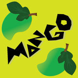 Mango Wallpaper. Mango fruit Green illustration background Stock Images