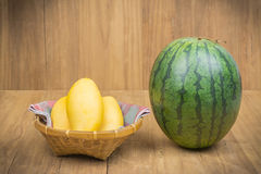 Mango and watermelon Royalty Free Stock Images