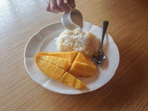 Mango whit sticky rice Stock Image