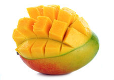 Mango on White Stock Images