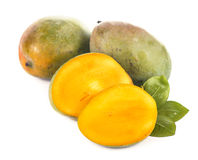 Mango on a white background Stock Images