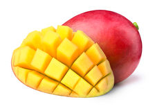 Free Mango With Half Sliced To Cubes Isolated Stock Photo - 72806310