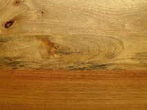 Mango wood grain resembling surreal landscape. Royalty Free Stock Photo