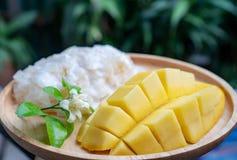 Mango y arroz pegajoso imagen de archivo libre de regalías