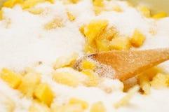 Mango y azúcar Fotos de archivo