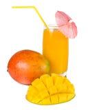 Mango y jugo Foto de archivo libre de regalías