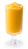 Mango yogurt milk shake. Mango yogurt, milk shake isolated on white royalty free stock image