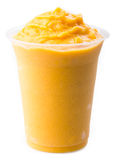 Mango yogurt, milk shake isolated on white Royalty Free Stock Image