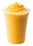 Mango yogurt, milk shake isolated on white royalty free stock image