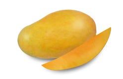 Mango z Miąższowym zbliżeniem Zdjęcia Royalty Free