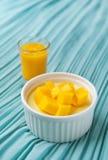 Mangoefterrätt Royaltyfri Fotografi