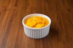 Mangoefterrätt Arkivfoton