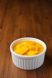 Mangoefterrätt Arkivfoto