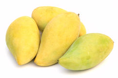 Mangoes. Isolated on a white background Royalty Free Stock Photo