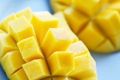 Mangoes. A close up shot of ripe and juicy mangoes Stock Image