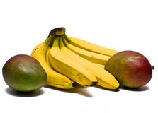 Mangoes and bananas Royalty Free Stock Image