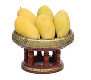 Mangoes on container Stock Photo