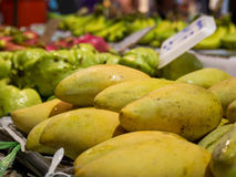Mangoes at a market Royalty Free Stock Image