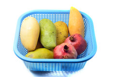 Mangoes and pomegranate Royalty Free Stock Images