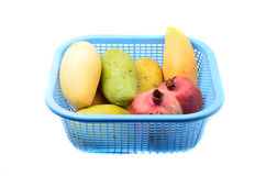 Mangoes and pomegranate Stock Photography