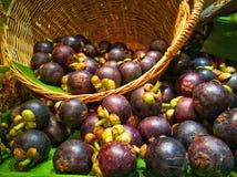 mangoesteen drottningen av frukt arkivfoto