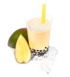 Mangofrucht Boba Luftblasen-Tee lizenzfreies stockbild