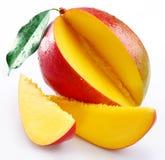 Mangofrucht mit Kapiteln Lizenzfreies Stockfoto