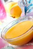 Mangofrucht-Pudding Lizenzfreies Stockfoto