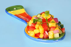Mangofrucht-Salsa Lizenzfreie Stockfotografie