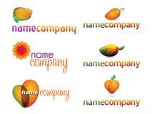 Mangofrucht-Zeichen-Ansammlung Stockfotos