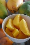Mangofruchtscheibe Lizenzfreie Stockbilder