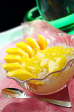 Mangofruchtscheiben Stockfotos