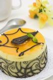 Mangofruchtschokoladenkuchen lizenzfreie stockfotos
