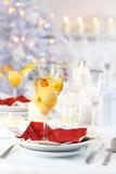 Mangofruchtsorbet für Weihnachten Stockfotografie
