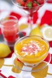 Mangofruchtsuppe Stockfoto