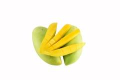 Mangofruit op witte achtergrond wordt geïsoleerd die Royalty-vrije Stock Fotografie