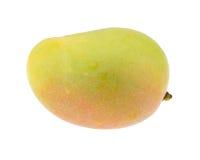 Mangofruit op witte achtergrond wordt geïsoleerd die Knippende weg Stock Afbeeldingen