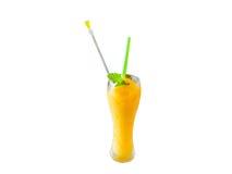 Mangofruktsaft (med den snabba banan) Fotografering för Bildbyråer