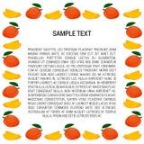 Mangokader met Tekst Stock Afbeeldingen